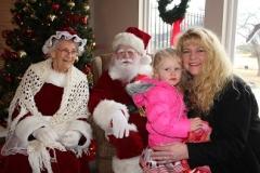 family with santa
