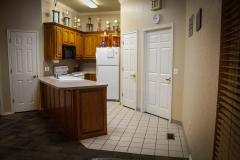 wide shot of kitchen